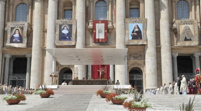 Homilija pape Franje na proglašenju sv. Mirjam od Isusa Raspetoga